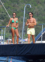 Tamara Ecclestone & Jay Rutland vacationing aboard super yacht in Sardinia - Exclusive