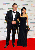 Alec Baldwin and his wife, Hilaria arrive for the formal Artist's Dinner honoring the recipients of the 2012 Kennedy Center Honors hosted by United States Secretary of State Hillary Rodham Clinton at the U.S. Department of State in Washington, D.C. on Saturday, December 1, 2012. The 2012 honorees are Buddy Guy, actor Dustin Hoffman, late-night host David Letterman, dancer Natalia Makarova, and the British rock band Led Zeppelin (Robert Plant, Jimmy Page, and John Paul Jones)..Credit: Ron Sachs / CNP
