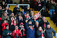Lincoln City fans enjoy the pre-match atmosphere<br /> <br /> Photographer Chris Vaughan/CameraSport<br /> <br /> The EFL Sky Bet League Two - Lincoln City v Cheltenham Town - Saturday 13th April 2019 - Sincil Bank - Lincoln<br /> <br /> World Copyright &copy; 2019 CameraSport. All rights reserved. 43 Linden Ave. Countesthorpe. Leicester. England. LE8 5PG - Tel: +44 (0) 116 277 4147 - admin@camerasport.com - www.camerasport.com