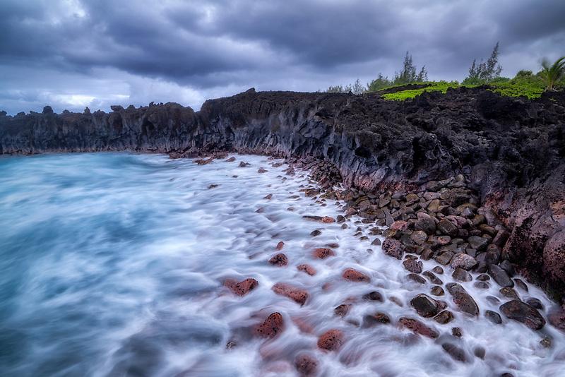 Coastline near Black Sand Beach (Waianapanapa State Park) Maui, Hawaii