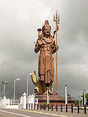 Mauritius. Big image of Mangal Mahadev - Shiva Statue at Ganga Talao by pilgrims way. The statue is 33 metres tall.
