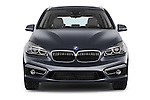 Car photography straight front view of a 2015 BMW 2 Series Gran Tourer Luxury 5 Door Mini Mpv Front View