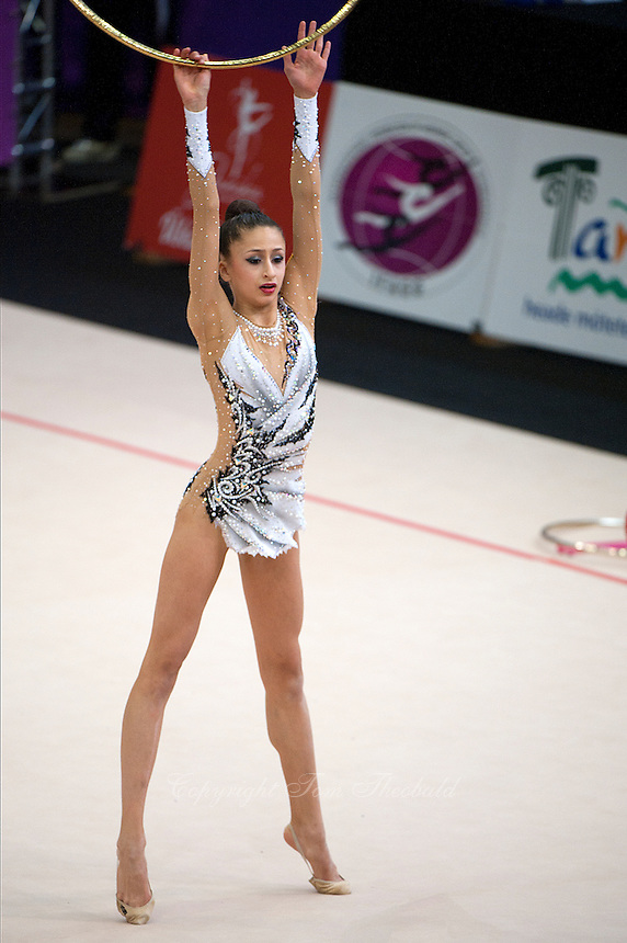 "February 14, 2016 - Tartu, Estonia - KARRINE DENNISOVA of USA, junior (2002)  performs in Event Final at ""Miss Valentine"" 2016 international tournament."