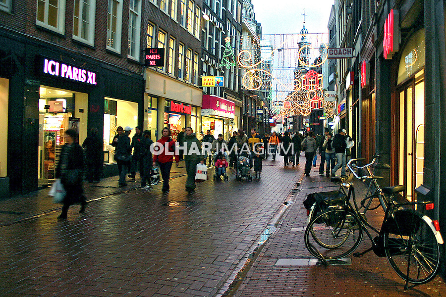 Rua Kaver Straat em Amsterdã. Holanda. 2007. Foto de Marcio Nel Cimatti.