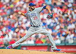15 June 2016: Chicago Cubs starting pitcher Jason Hammel on the mound against the Washington Nationals at Nationals Park in Washington, DC. The Cubs fell to the Nationals 5-4 in 12 innings, giving up the rubber match of their 3-game series. Mandatory Credit: Ed Wolfstein Photo *** RAW (NEF) Image File Available ***