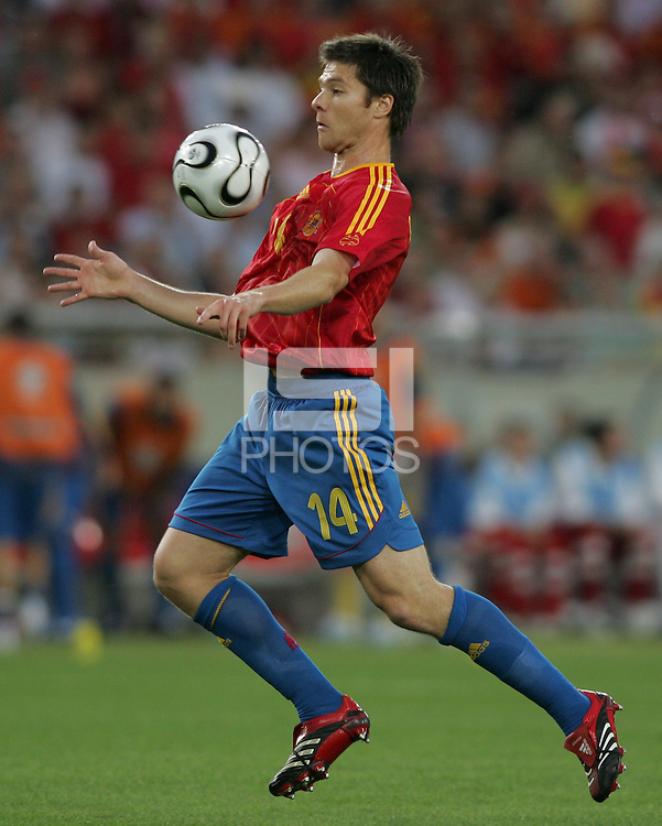 Xabi Alonso of Spain. Spain defeated Tunisia 3-1 in their FIFA World Cup Group H match at the Gottlieb-Daimler-Stadion, Stuttgart, Germany, June 19, 2006.