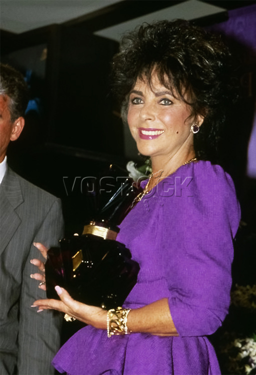 "Elizabeth Taylor Launches her Perfume ""Passion"", 1987."