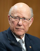 United States Senator Pat Roberts (Republican of Kansas) endorses the nomination of CIA Director Mike Pompeo to be US Secretary of State before the US Senate Committee on Foreign Relations on Capitol Hill in Washington, DC on Thursday, April 12, 2018.<br /> Credit: Ron Sachs / CNP