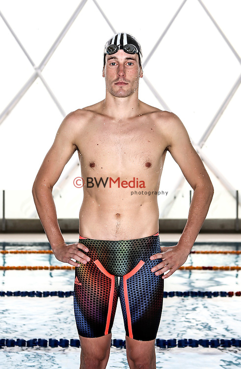 NZ Swimmer 1500m Nathan Capp. Adidas Swim racesuit launch at the Swimming New Zealand High Performance Centre, Owen G Glenn National Aquatic Centre, Auckland New Zealand. Phoyo: Simon Watts/www.bwmedia.co.nz