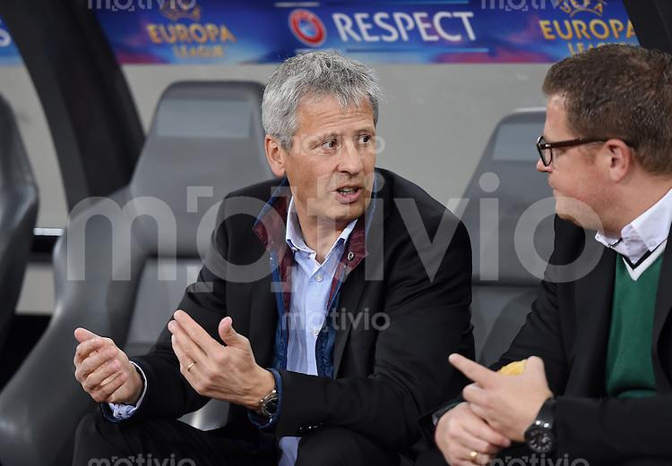 FUSSBALL   INTERNATIONAL   UEFA EUROPA LEAGUE   SAISON 2014/2015 FC Zuerich - VfL Borussia Moenchengladbach    02.10.2014 Trainer Lucien Favre (li, Borussia Moenchengladbach) mit Sportdirktor Max Eberl (Borussia Moenchengladbach)