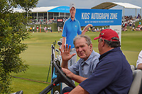 Former President George W. Bush is on hand during round 4 of the AT&T Byron Nelson, Trinity Forest Golf Club, at Dallas, Texas, USA. 5/20/2018.<br /> Picture: Golffile | Ken Murray<br /> <br /> All photo usage must carry mandatory copyright credit (© Golffile | Ken Murray)