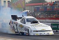 Apr 24, 2015; Baytown, TX, USA; NHRA  funny car driver John Force during qualifying for the Spring Nationals at Royal Purple Raceway. Mandatory Credit: Mark J. Rebilas-