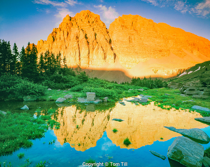 Red Castle Peak Reflection, High Uintas Wilderness, Utah  Uinta Mountains    Wasatch/Cache National Forest