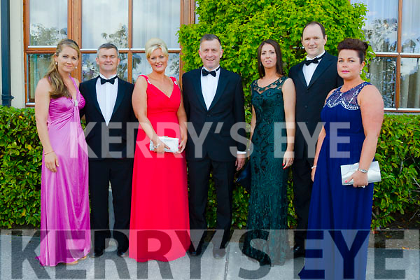 Pictured at the Rose Ball at the Dome on Friday night were l-r Collette O'Leary, Michéal O'Leary, Lisa Ferriter, Pierce Ferriter, Helen O'Connor, TJ O'Connor and Marie Fitzgibbon from Tralee