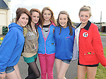 Members of Mell Foroige Louise Ashe, Laura Callan, Sophie Ormiston, Aoife McEntee and Aimee Kirwan who attended the Foroige clubs event held on Bellewstown race course. Photo: Colin Bell/pressphotos.ie
