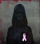 Representation of breast cancer awareness ribbon