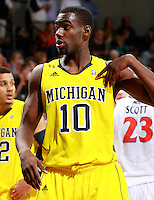 CHARLOTTESVILLE, VA- NOVEMBER 29: Tim Hardaway Jr. #10 of the Michigan Wolverines during the game on November 29, 2011 at the John Paul Jones Arena in Charlottesville, Virginia. Virginia defeated Michigan 70-58. (Photo by Andrew Shurtleff/Getty Images) *** Local Caption *** Tim Hardaway Jr.