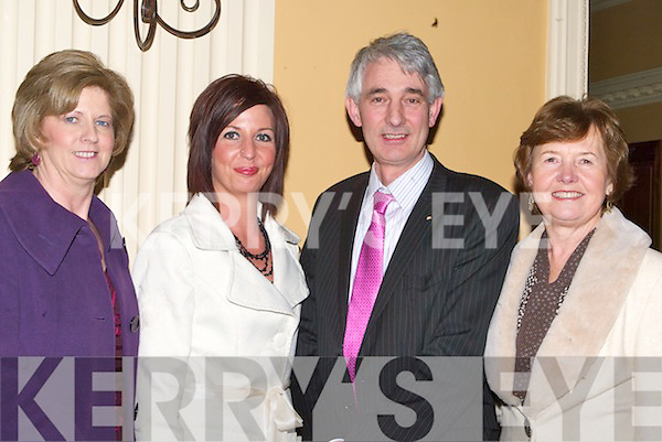 ATTENDENCE: Sheila O'Donoghue,Martha O'Donoghue,Paul Garnett and Bertha O'Sullivan in attendence at the Bon Secour Foundation Dinner at Ballygarry House Hotel & Spa, Tralee on Thursday night..   Copyright Kerry's Eye 2008