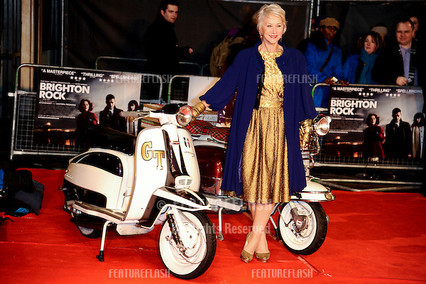 Dame Helen Mirren arriving for 'Brighton Rock' premiere at the Odeon West End, London. 01/02/2011  Picture by: Steve Vas / Featureflash