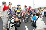 Alejandro Valverde (r), Alberto Contador (l) and Joaquin Purito Rodriguez during the stage of La Vuelta 2012 between Barakaldo and Valdezcaray.August 21,2012. (ALTERPHOTOS/Paola Otero)