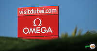 Backboard on the 4th tee during the Final Round of the 2016 Omega Dubai Desert Classic, played on the Emirates Golf Club, Dubai, United Arab Emirates.  07/02/2016. Picture: Golffile | David Lloyd<br /> <br /> All photos usage must carry mandatory copyright credit (&copy; Golffile | David Lloyd)