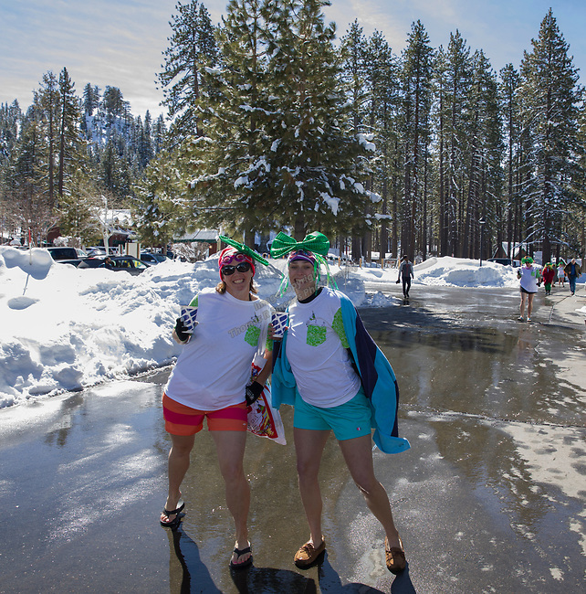 A photograph taken during the Polar Plunge at Zephyr Cove on Sunday, March 18, 2018.  The Polar Plunge benefits the Northern California and Northern Nevada Special Olympics.