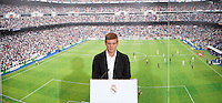 Toni Kroos during the official presentation as new player of Real Madrid football club in Santiago Bernabeu stadium in Madrid, Spain. July 17, 2014. (ALTERPHOTOS/Caro Marin)