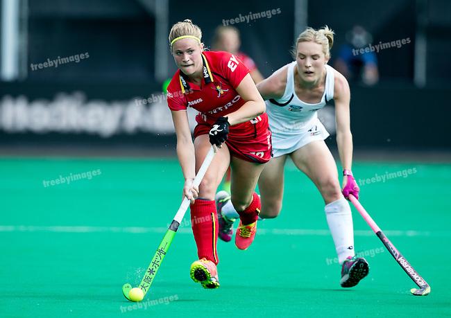 27/06/2015<br /> HWL Semi Final Antwerp Belgium 2015<br /> New Zealand v Belgium Women<br /> Alix Gerniers<br /> Photo: Grant Treeby