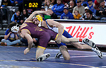 SIOUX FALLS, SD - NOVEMBER 11: Seth Gross from South Dakota State battles with Josiah Kline from Arizona State during their 133 pound match Sunday afternoon at the Sanford Pentagon in Sioux Falls, SD.  (Photo by Dave Eggen/Inertia)