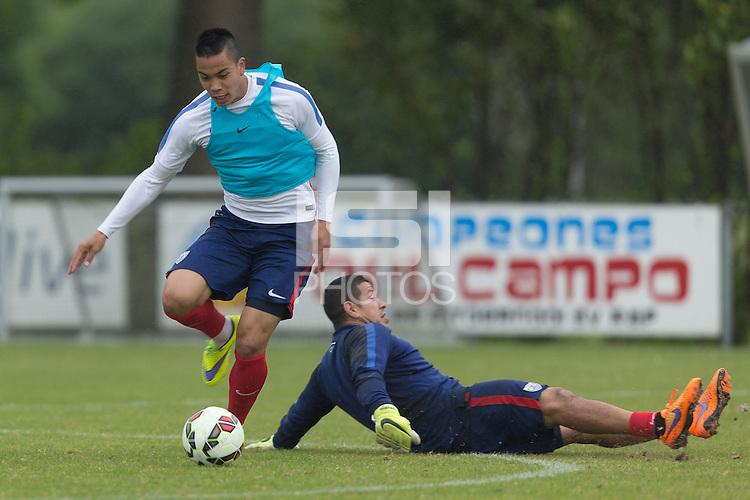 Amstelveen, Netherlands - Tuesday, June 2, 2015: The USMNT train in preparation for their international friendly vs Netherlands at Sportpark Het Loopveld.