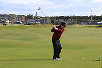JP McManus (AM) playing with Padraig Harrington (IRL) on the 16th during Round 3 of the Alfred Dunhill Links Championship 2019 at St. Andrews Golf CLub, Fife, Scotland. 28/09/2019.<br /> Picture Thos Caffrey / Golffile.ie<br /> <br /> All photo usage must carry mandatory copyright credit (© Golffile | Thos Caffrey)