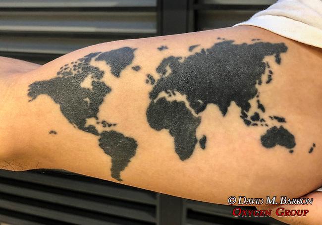 Tatoo Of World Map