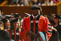 MIAMI, FL - MAY 05: Shaquille O'Neal receives doctoral degree in education from Barry University at James L Knight Center on May 5, 2012 in Miami, Florida.  (photo by: MPI10/MediaPunch Inc.)
