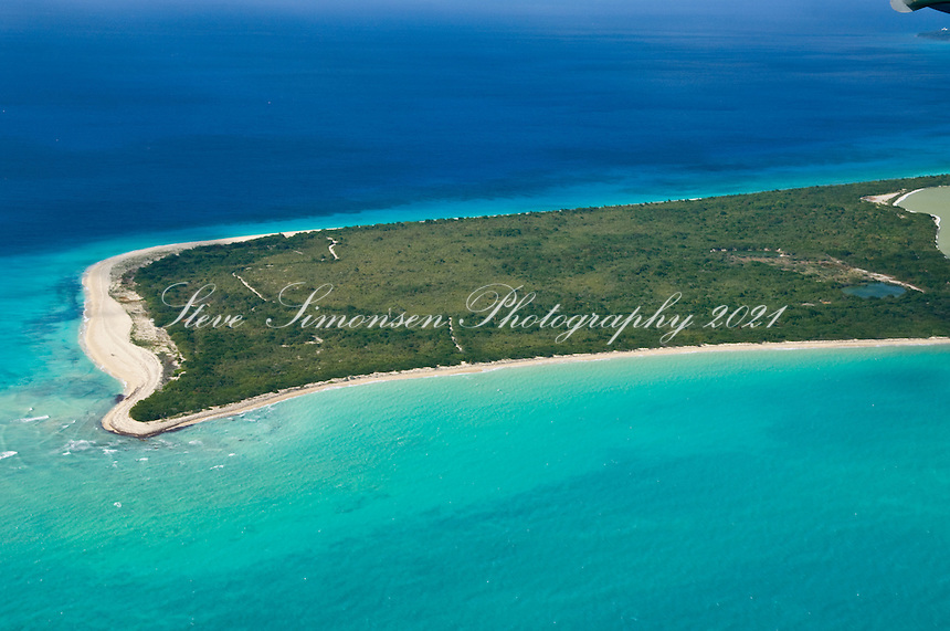 Aerial view of Sandy Point Wildlife Refuge<br /> St. Croix, U.S. Virgin Islands