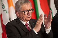 Rome, Italy, March 25,2017. European Commission President Jean-Claude Juncker, attends the meeting in the Orazi and Curiazi Hall at the Palazzo dei Conservatori during an EU summit in Rome. European Union leaders were gathering in Rome to mark the 60th anniversary of their founding treaty and chart a way ahead following the decision of Britain to leave the 28-nation bloc.