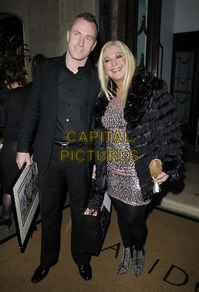 LONDON, ENGLAND - JANUARY 28: James Jordan &amp; Vanessa Feltz attend the Radio Times Covers Party, Claridge's Hotel, Brook St., on Tuesday January 28, 2014 in London, England, UK.<br /> CAP/CAN<br /> &copy;Can Nguyen/Capital Pictures