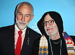 David Webster and Larry Kramer attend the Broadway Opening Night of 'An Act of God'  at Studio 54 on May 28, 2015 in New York City.