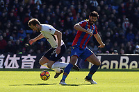 James Tomkins of Crystal Palace and Harry Kane of Tottenham Hotspur during Crystal Palace vs Tottenham Hotspur, Premier League Football at Selhurst Park on 25th February 2018