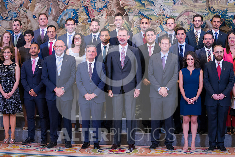 King Felipe during the audience with executive commission of the alliance for professional learning dual. July 8 ,2019. (ALTERPHOTOS/Francis Gonzalez)