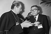 - the archbishop of Milan, cardinal Carlo Maria Martini with Giulio Andreotti (Christian Democratic Party), Milan, March 1984 ....- l'arcivescovo di Milano, cardinale Carlo Maria Martini con Giulio Andreotti (Democrazia Cristiana), Milano, marzo 1984