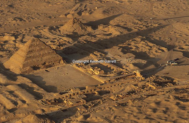 Old Kingdom; The Step Pyramid of Djoser; Aerial; Saqqara; Egypt