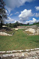 The ballcourt at the Mayan ruins of Chinkultic near Comitan, Chiapas, Mexico