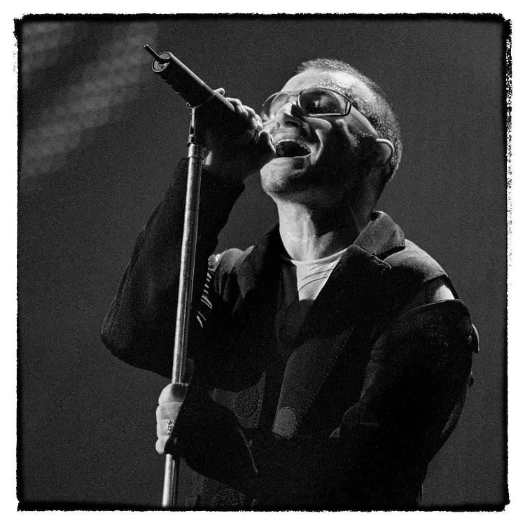 Bono in B&W. Popmart Tour: Tempe, Arizona, May 9, 1997