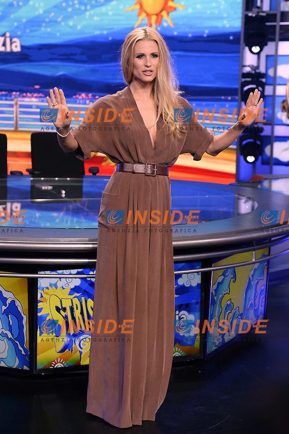 Michelle Hunziker <br /> Milano 22-09-2016 - photocall trasmissione Tv Striscia la notizia <br /> foto Daniele Buffa/Image/Insidefoto