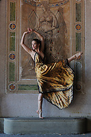 Gregory Holmgren, Dance, movement project, model, dancer Allison Jones at Bethesda Terrace, Central Park, New York, New York, September 14, 2012