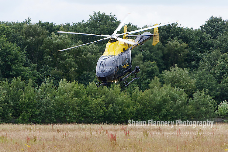 Pix: Shaun Flannery/shaunflanneryphotography.com...COPYRIGHT PICTURE>>SHAUN FLANNERY>01302-570814>>07778315553>>..12th July 2011...............South Yorkshire Police helicopter, Sierra Yankee 99.
