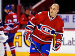 22 March 2010: Montreal Canadiens' center Scott Gomez warms up prior to a game against the Ottawa Senators at the Bell Centre in Montreal, Quebec, Canada. The Senators shut out the Canadiens 2-0 in their last meeting of the regular season. Mandatory Credit: Ed Wolfstein Photo