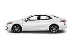 Car driver side profile view of a 2018 Toyota Camry SE Auto 4 Door Sedan