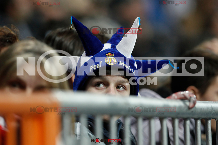 Real Madrid´s supporter during Spanish King Cup match between Real Madrid and Cornella at Santiago Bernabeu stadium in Madrid, Spain.December 2, 2014. (NortePhoto/ALTERPHOTOS/Victor Blanco)