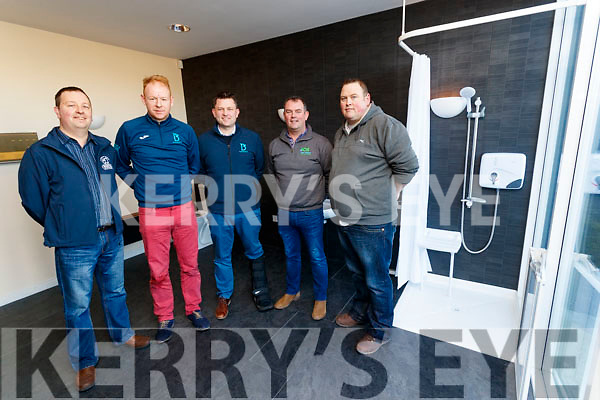 Michael Pigott (Branch Manager DPL) Seamus Scanlon (Bathrooms 4U), Alan Kelly (Bathrooms 4U) Alan O'Sullivan (Bathrooms 4U) and John Kelly (DPL), pictured at the DPL Trade Show, in Monavalley, Tralee, on Wednesday morning last.